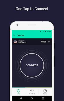 CM Security Open VPN - Free, fast unlimited proxy APK screenshot 1