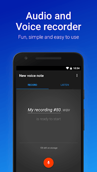 Easy Voice Recorder APK screenshot 1