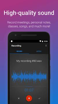 Easy Voice Recorder APK screenshot 1