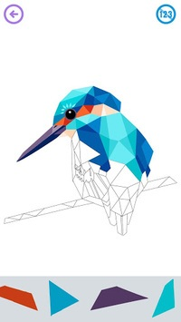 Low Poly Art - Color by Number, Number Coloring APK screenshot 1