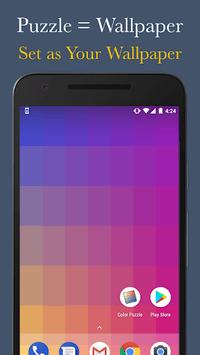 Color Puzzle Game + Download Free Hue Wallpaper APK screenshot 1