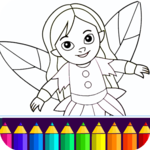 Coloring game for girls and women icon