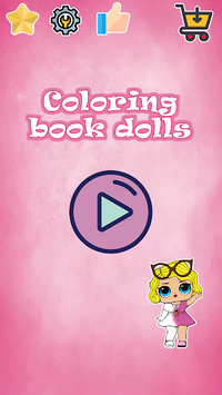 Coloring book Dolls APK screenshot 1