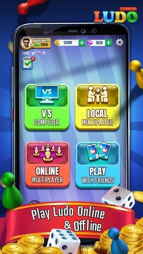 Ludo Comfun-Online Ludo Game Friends Live Chat APK screenshot 1