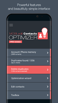 Contacts Optimizer APK screenshot 1