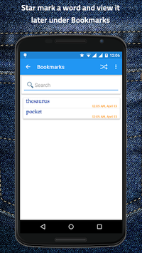 Pocket Thesaurus APK screenshot 1