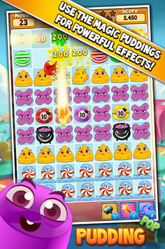 Pudding Pop - Connect & Splash Free Match 3 Game APK screenshot 1