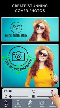 Cover Photo Maker - Banners & Thumbnails Designer APK screenshot 1