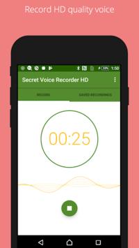 Secret voice recorder (SVR) APK screenshot 1