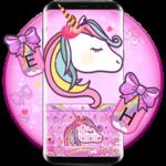 Lovely Cuteness Pink Unicorn Keyboard Theme icon