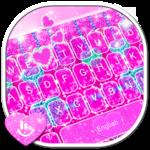 Glitter Pink Heart Keyboard Theme icon