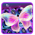 Colorful Glitter Neon Butterfly Keyboard Theme icon