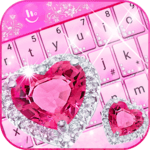 Pink Diamond Princess Keyboard Theme icon