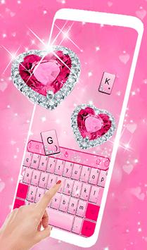 Pink Diamond Princess Keyboard Theme APK screenshot 1
