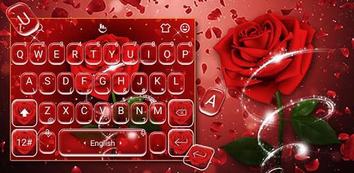 Romantic Red Rose Flower Keyboard Theme pc screenshot