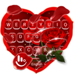 Romantic Red Rose Flower Keyboard Theme icon