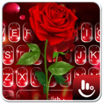Romantic Flower Red Rose Sparkling Keyboard Theme icon