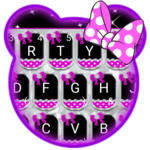 Sparkling Minny Bowknot Keyboard Theme icon