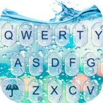 3D Blue Glass Water Keyboard Theme icon