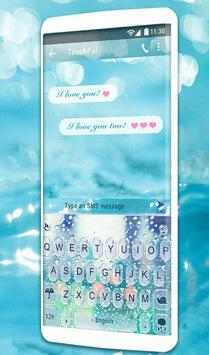 3D Blue Glass Water Keyboard Theme APK screenshot 1