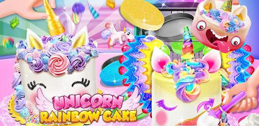 Unicorn Food - Sweet Rainbow Cake Desserts Bakery pc screenshot