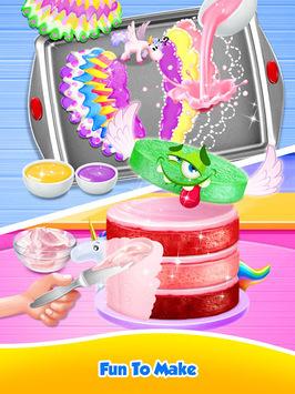 Unicorn Food - Sweet Rainbow Cake Desserts Bakery APK screenshot 1