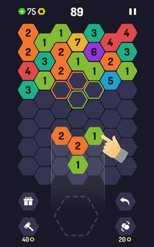 UP 9 - Hexa Puzzle! Merge Numbers to get 9 APK screenshot 1
