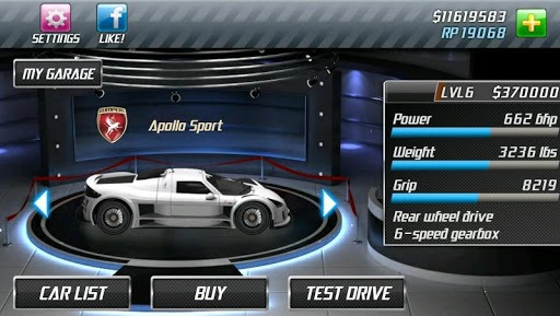 Drag Racing APK screenshot 1