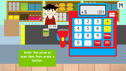 Kids Cash Register Grocery Free APK screenshot 1