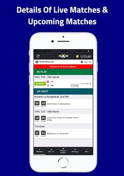 Criczumo - Fantasy Cricket, Real Match Odds apk screenshot 1