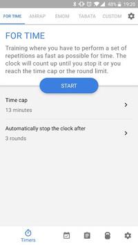 Workout timer : Crossfit WODs & TABATA APK screenshot 1