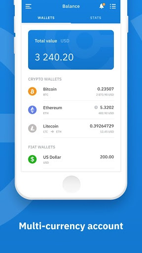 Cryptonator cryptocurrency wallet APK screenshot 1