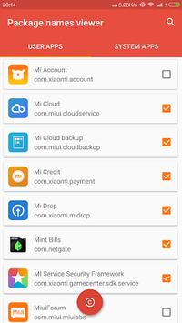 Package Name Viewer 2.0 APK screenshot 1