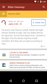 Bible Gateway APK screenshot 1