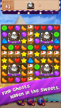 Sugar Witch - Sweet Match 3 Puzzle Game APK screenshot 1