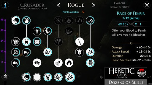 HERETIC GODS APK screenshot 1
