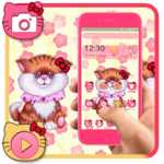 Pink Cute Kitty Theme icon