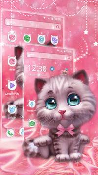 Cute Furry Cat Theme APK screenshot 1