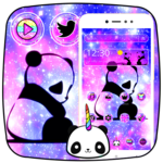 Cute Panda Galaxy Theme icon