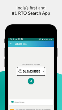 RTO Vehicle Information APK screenshot 1