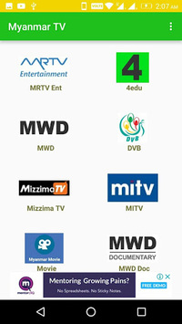 TV Myanmar - All Live TV APK screenshot 1