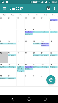 Calendar Daily - Planner 2018 APK screenshot 1