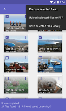 DiskDigger photo recovery APK screenshot 1