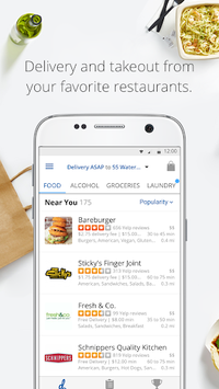 delivery.com: Order Food, Alcohol & Laundry APK screenshot 1