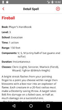 Spell List D&D 5th Edition APK screenshot 1