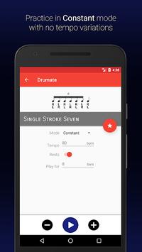 Drumate Free - Drum Rudiments APK screenshot 1