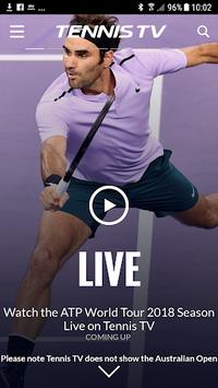 Tennis TV - Live ATP Streaming APK screenshot 1
