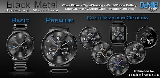 Black Metal HD Watch Face Widget & Live Wallpaper pc screenshot