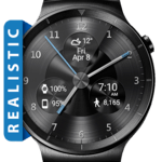 Black Metal HD Watch Face Widget & Live Wallpaper for pc icon
