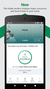Desjardins mobile services APK screenshot 1